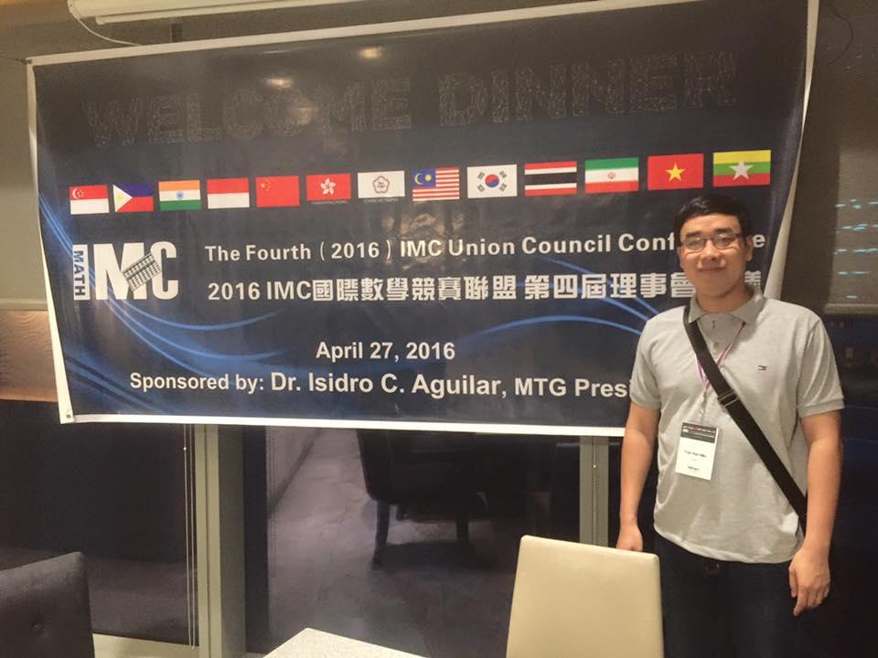 Thầy Trần Hữu Hiếu tham gia hội nghị IMC năm 2016 chuẩn bị cho kỳ thi IMC